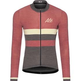 Alé Cycling Classic Vintage LS Jersey Herr bordeaux